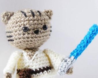 Jedi Cat Amigurumi Pattern - Jedi Cat Crochet Doll Pattern