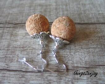 Earrings-Korkperle
