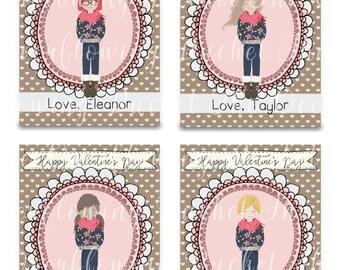 Assomiglia a Me cartoline di San Valentino - San Valentino personalizzati carte - ragazza - Aula carte