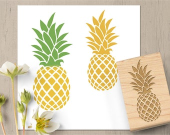 Pineapple Stamp, Pineapple Favor, Pineapple Gift, Fruit Stamp, Hawaii Stamp, Spring Summer Stamp, Food Stamp, Cooking Kitchen Stamp 143