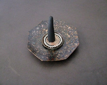 Copper and Sterling Silver Incense Burner