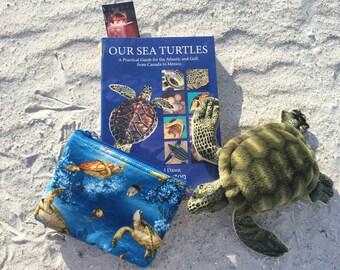 Sea Turtle cosmetic bag