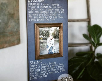 Brother and Sister Frame, Brother and Sister Wall Art, Sibling Gifts, Grandparents Gift, Grandparents Frame,  16x30 The Sugared Plums Frames