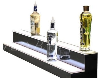 """48"""" 2 Step Bar Shelf Led Lighted for Liquor Bottle display"""