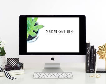 Succulent Photography Succulent Styled Stock Photo Succulent Social Media Image Succulent Desk Image Succulent Royalty Free Photography