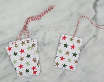 Christmas Gift Tags, Gift Tags, Star Gift Tags, Swing Tags.