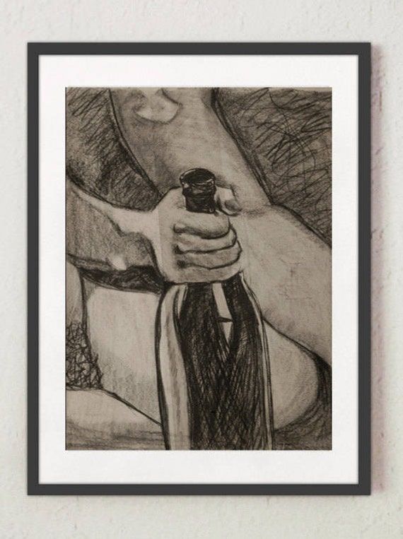 "Drawing - ""Black Glass"""