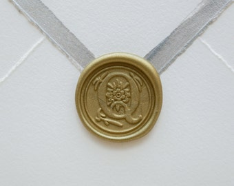 Q Letter Wax Seal | Initial Wax Seal Stamp