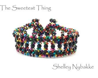 The Sweetest Thing  Bracelet DIY Kit  -  Multi-Color/Mystic Black Pearls