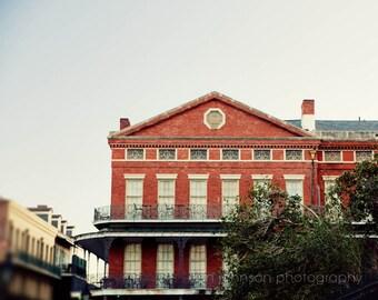 french quarter architecture art, new orleans photography, pontalba building, jackson square, balcony art, new orleans art