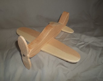 Wooden Toy Airplane Handmade
