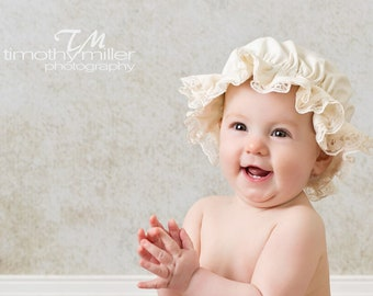Little Girl Mop Cap Photo Prop With or Without Lace