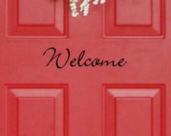 Sticker de porte Bienvenue