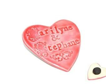Ceramic - custom name magnet
