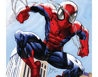 Amazing Spiderman - Digital Painting Print