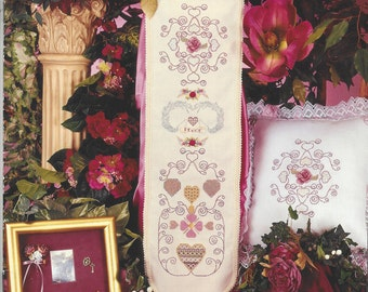 """Clearance- """"Victorian Bellpull"""" Counted Cross Stitch by Cross My Heart"""