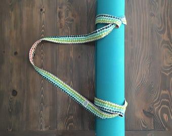 Organic Yoga Mat Strap/Yoga Prop, dots