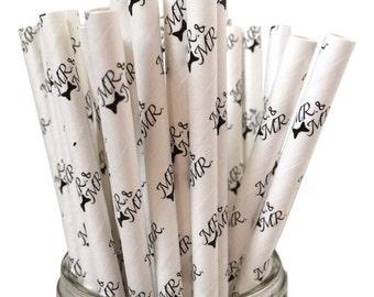 Paper Straws, Mr & Mr, Wedding Straws, Gay Wedding, Wedding Shower, Engagement Party, Pride, Gay,  Anniversary, Gay Pride, LGBT, 10