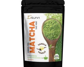 Dodjivi Matcha Green Tea Powder Organic 100% Natural Vanilla Matcha Green Tea Japanese Mighty Antioxidant - (50g)
