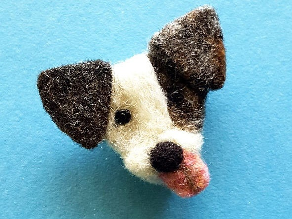 dog pin brooch, needle felt animals, dog brooch pin, cute pins birthday gift for her, needle felted dog christmas gift, dog best friend gift