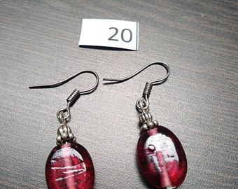 Simple Pink Bead Earrings