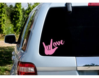 I Love You ASL Vinyl Decal - Donation With Purchase - **Choose your donation organization by adding a note at checkout**