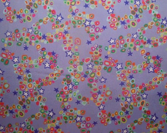 60 X 82 Purple Poly Print Fabric Yardage
