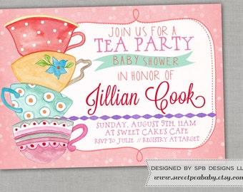 Baby Shower Invitation -- Baby Tea