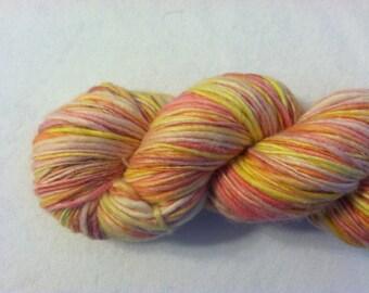 Handspun Yarn - SUNSET - Merino, Tussah Silk
