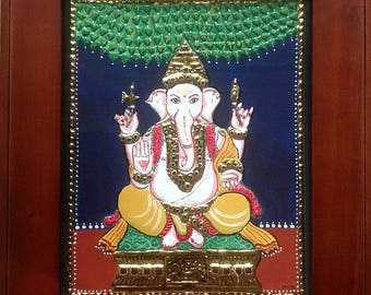 Tanjore Painting Lord Ganesha