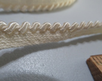 Petite rope piping, ivory rope piping, vintage piping, rope piping, satin piping
