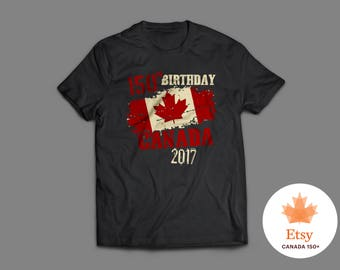 Limited Edition Canada Anniversary T-Shirt   Canada 150th Birthday   Canada Day Shirt   Canada