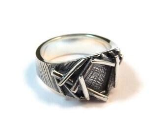 Sterling silver nest ring