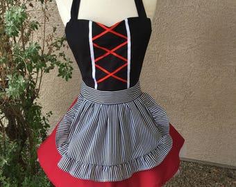 Small- Pirate costume apron dress