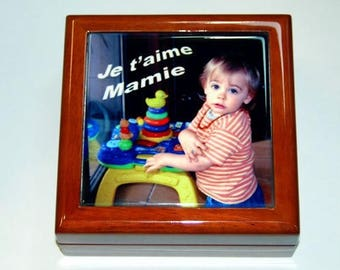 personalized with your favorite photo jewelry box