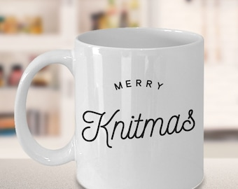 Knitting Mug - Gift for Knitter - Merry Knitmas Mug