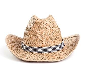 Cowboy hat , Straw hat , Men's sun hats , 100% natural straw.