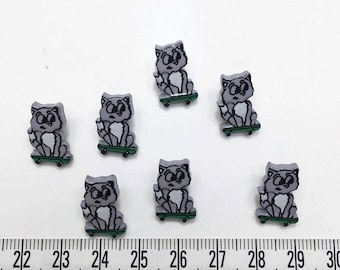 30 pcs of  Gray Cat on Skateboard