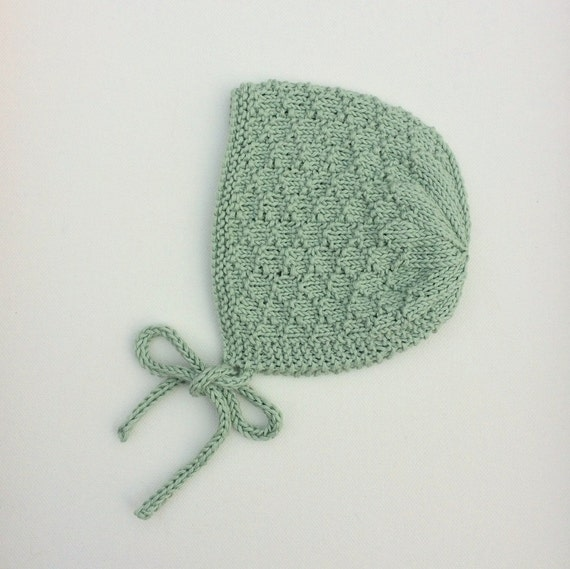 Organic Cotton Mossie Bonnet in Mint - Made to Order