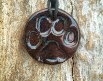 Dog Lover Necklace |  Paw Print Diffuser | Essential Oil Diffuser | Terracotta Diffuser Necklace | Dog Lover Necklace | Aromatherapy Pendant