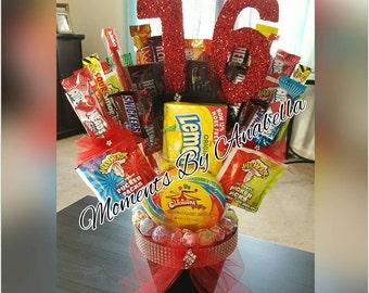 """SWEET Sixteen """"16"""" Candy Bouquet"""