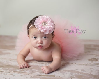 Pink Newborn Tutu, Pink Newborn Tutu Set, Pink Baby Tutu, Pink Tutu, Pink Tutu Skirt, Tutu with Headband, Baby Tutu with Headband,