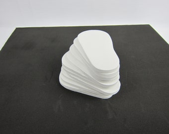 """5mm Doll Soles, 12-Pack Doll Soles, 12-White 5mm Foam Doll shoe Soles, 18"""" die cut doll soles, foam doll shoe supplies, free shipping"""
