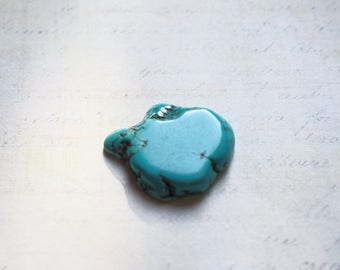 Large Pearl bead in turquoise 25-35 x 33-40mm