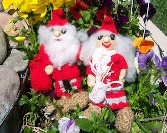 Vintage Swedish Tomten Dolls-Soren and Solveig