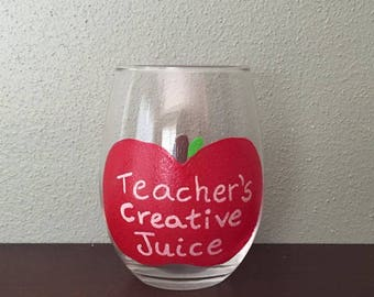 Teacher's Creative Juice Stemless Wine Glass
