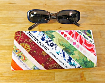 Sunglasses Case, Eyeglasses Case, Selvage, Quilted Eyeglass Pouch, Upcycled Accessory, Iphone pouch, cell phone pouch