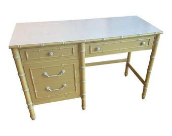 Thomasville Vintage Faux Bamboo Desk