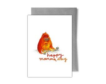 Cute Orangutan Mother's Day Card