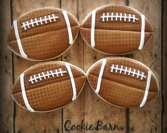 Football Sports Decorated Sugar Cookie
